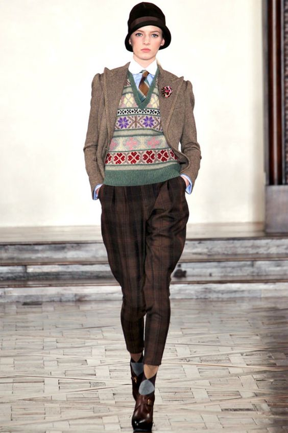 1920s Fashion Channeled in Ralph Lauren Fall 2012 RTW Line Jumper style