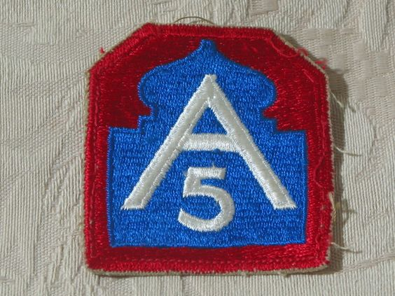 MILITARY SHOULDER PATCH 5th (Fifth) United States Army North No Vietnam Combat  Junk_629  http://ajunkeeshoppe.blogspot.com/