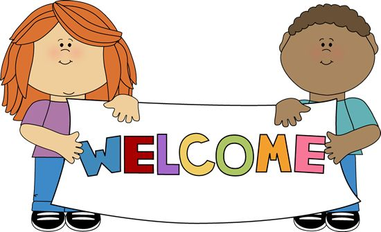 children holding a welcome banner