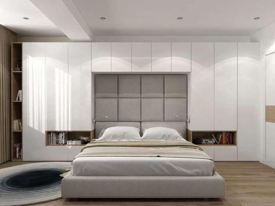 спальня со шкафами по бокам кровати: 11 тыс изображений найдено в Яндекс.Картинках