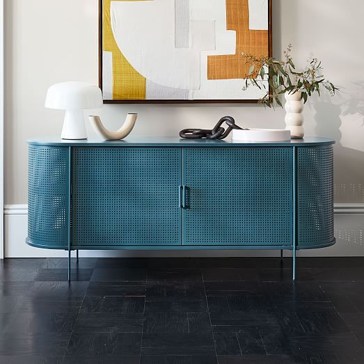 Perforated Metal Buffet In 2020 Chic Dining Room Modern Buffet