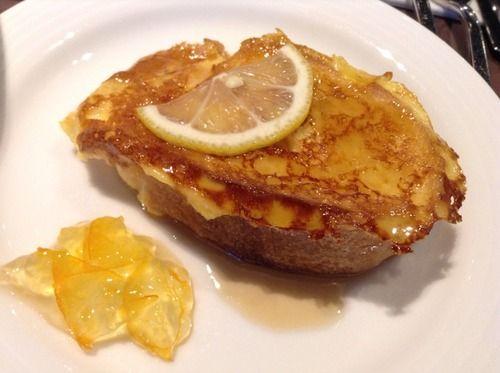 広島レモンのフレンチトーストボンジュールプリュ   広島ワシントンホテル
