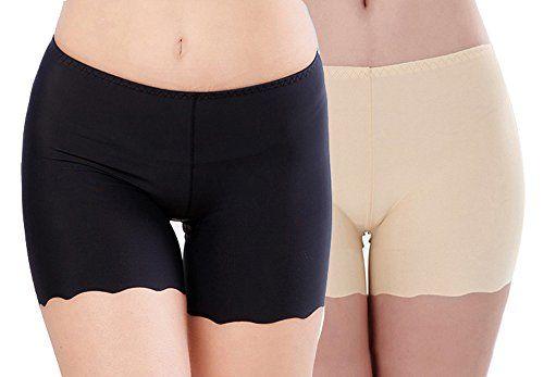 Damen Hohe Taille Leggings Kurz Shorts Hosen Fitness Unterwäsche Sicherheitshose