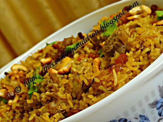 The Cooking Cauldron: Mutton Biryani