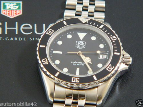 Near Mint TAG Heuer 1000 Submariner Man St. Steel with a ...