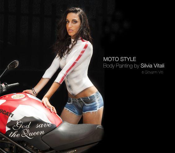 MOTO STYLE Body Painting by Silvia Vitali