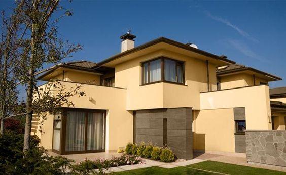fachadas de casas color amarillo - Buscar con Google