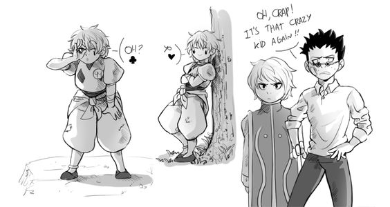 Hisoka, Kurapika and Leorio!