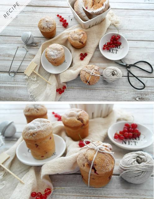 redcurrent raspberry and almond muffins - twigg studios