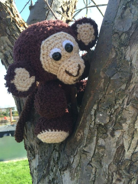 Kostenlose Häkelanleitung - Kleiner Affe