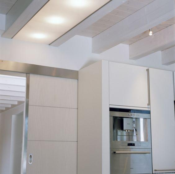 Weiße Küche mit Schiebetür Interior\/House Pinterest - schiebetür für küche
