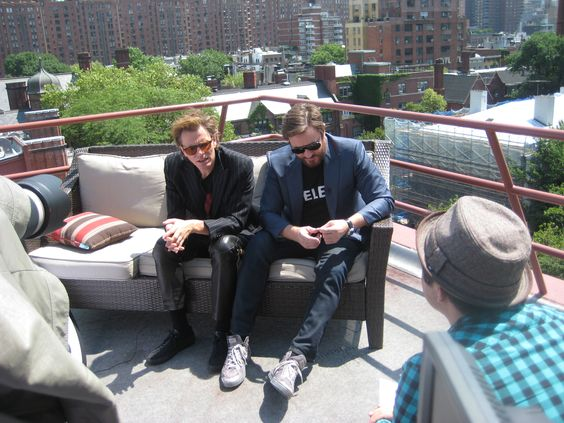 JT roof-topping with Simon. Happy Birthday John!