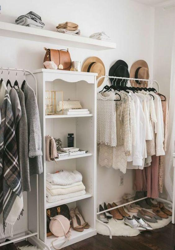 closet full of neutrals