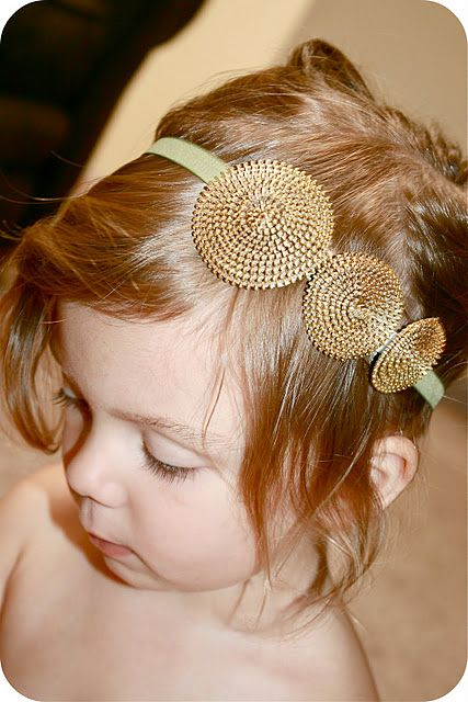 I need to make these zipper rosette headbands for my sweet nieces.