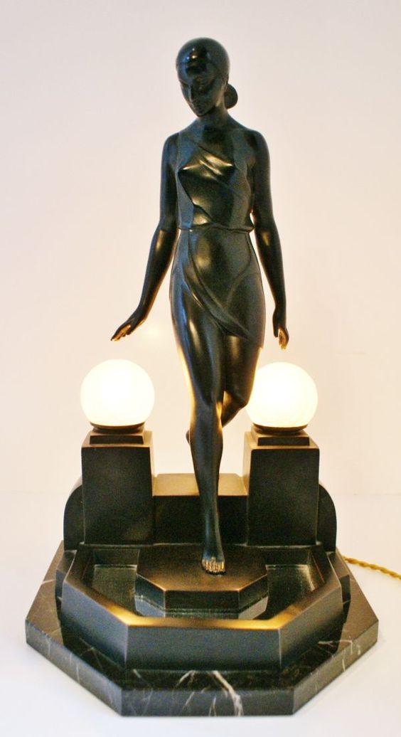 art deco #sculpture #lamp