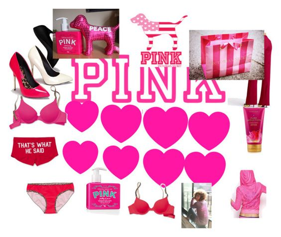 """Live in What You Love with Victoria's Secret PINK"" by tabitha-escoe ❤ liked on Polyvore featuring Victoria's Secret PINK and Victoria's Secret"