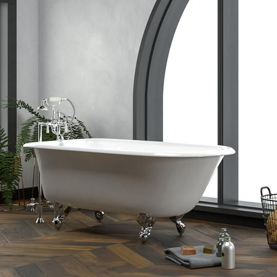 57 Beaumont Cast Iron Roll Top Clawfoot Tub Clawfoot Tub Home