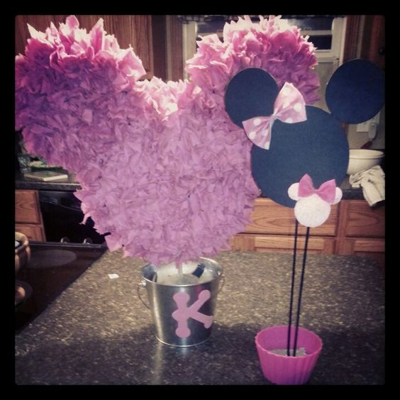 Minnie Mouse Birthday Centerpieces for kennedys 2nd birthday: