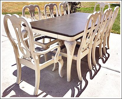 Pinterest the world s catalog of ideas for Painting dining room table ideas