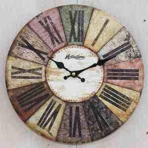 horloge d co multicolore d coration vintage pendule d co vintage salon salon ideas. Black Bedroom Furniture Sets. Home Design Ideas