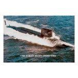 USS ETHAN ALLEN POSTER  USS ETHAN ALLEN POSTER  $13.70  by JJ_Graphics  . More Designs http://bit.ly/2hyOutM #zazzle