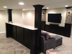 Basement Built In Cabinets And Bars   Traditional   Basement   Chicago   By  Hogan Design U0026 Construction (HDC) | For The Home | Pinterest | Basements,  ...