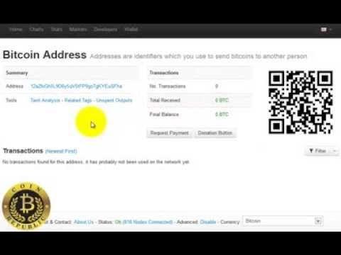 bitcoin address in coinbase
