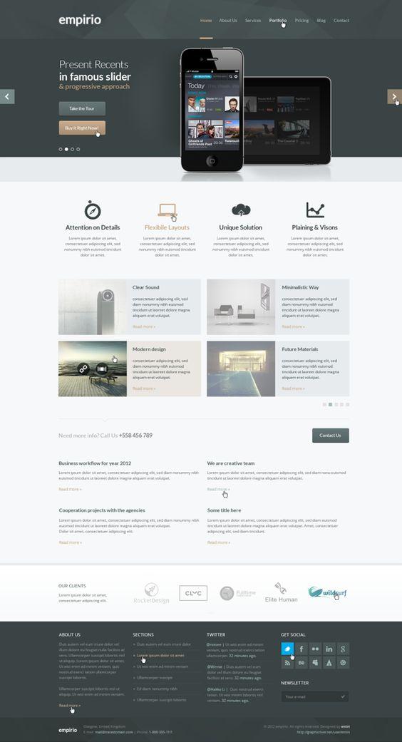 empirio PSD Web Template | #flat #minimal #design #web ...