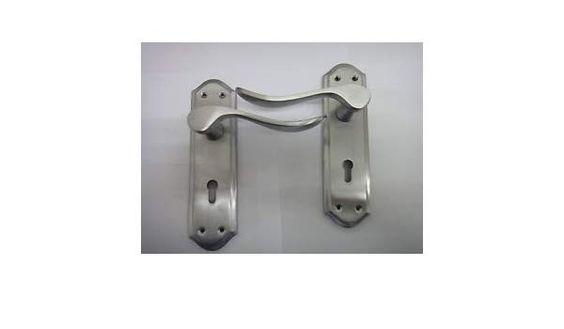 Homebase Boughton Lever Lock Handle In Satin Chrome Finish Homebase Sandringham Lever Lock Handles In Satin Nickel Upv In 2020 Door Handles Homebase Upvc Patio Doors