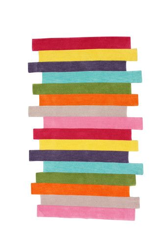 Mod Stripes Area Rug in Multi design by NuLoom #rainbow #striped #stripes