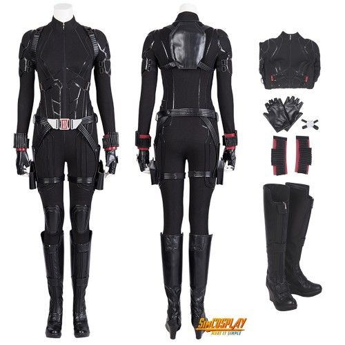 Avengers Endgame Captain America 3 Black Widow Cosplay Costume Full Suit