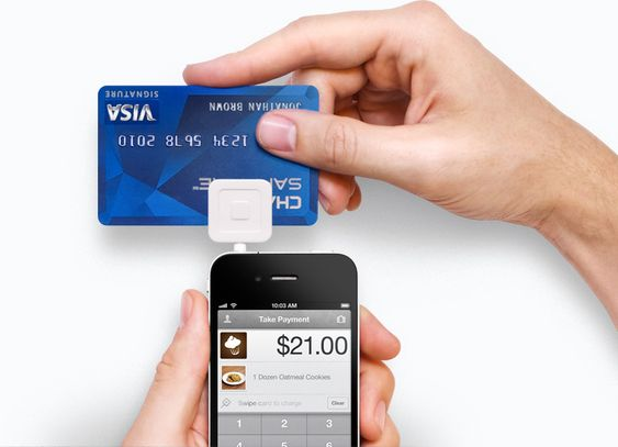 iphone app for a small business owner. Lets you take credit cards on the spot using your iphone and this adapter.