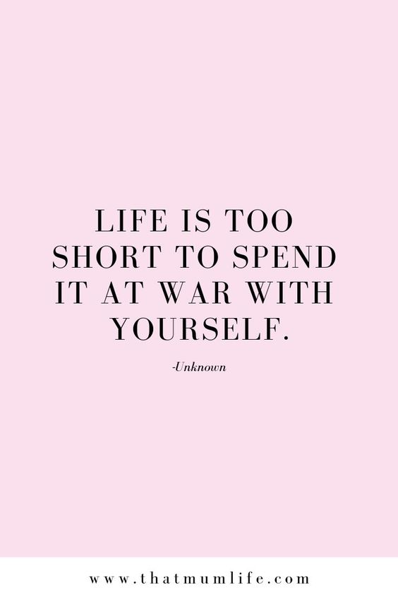 Life is too short to spend at war with yourself.  #michelejamison  #bodypositive #MotivationSuccess #SelfMotivation  #MotivationTips #Motivation   #MotivationWorkout #MotivationQuotes #PositiveMotivationSelfEsteem  #PositiveMotivationFitness #PositiveMotivationFitnessGym  #PositiveMotivationLife #PositiveMotivationLifeWords #PositiveMotivation  #MotivationToLoseWeight #MotivationWomen #HealthyMotivation #MotivationIdeas