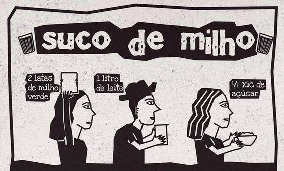 RECEITA-ILUSTRADA 124: Suco de milho. http://mixidao.com.br/receita-ilustrada-124-suco-de-milho/