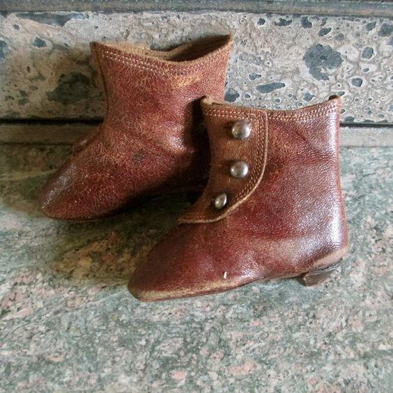 Keystone French Leather High Heeled Doll Boots Size 4