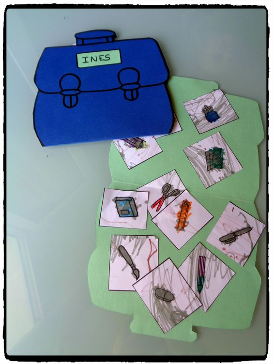 cartables rentrée scolaire, bricolage enfant, collage, école