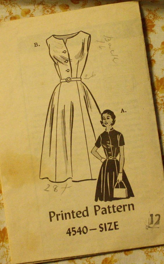 Mail Order 4540 1950s Dress Sewing Pattern by EleanorMeriwether, $10.00