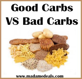 Good Carbs VS Bad Carbs http://madamedeals.com/good-carbs-vs-bad-carbs/ #inspireothers #yourweightlossmethods