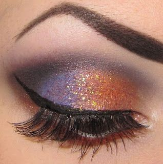 Purple and orange w/ glitter - this one makes me think of Halloween. I'm sure it has plenty of other uses too.