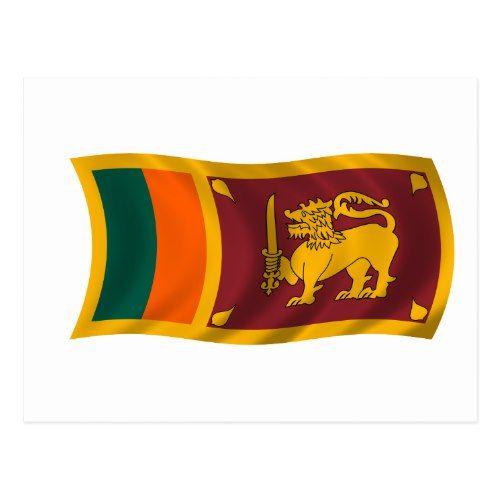 Waving Flag Of Sri Lanka Postcard Zazzle Com Sri Lanka Postcard Flag