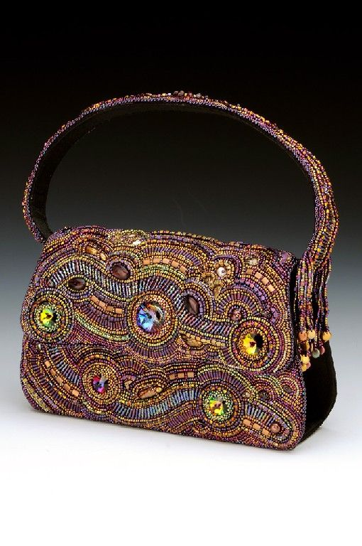 Beautiful embroidered jewelry by Dixie Gabric Click on link to see more - http://beadsmagic.com/?p=6084