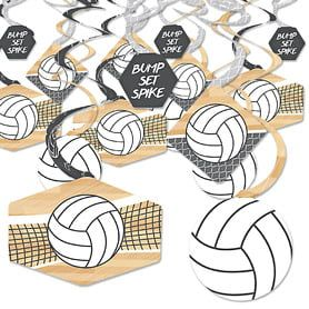 Bump Set Spike Volleyball Baby Shower Theme Bigdotofhappiness Com In 2020 Baby Shower Theme Volleyball Party Decorations Party Decorations