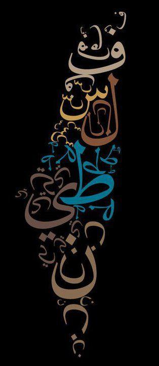 Palestine This Is Palestine Written In Arabic Making Up