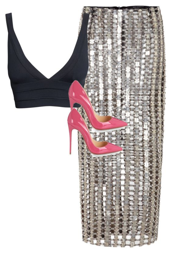"""""""Untitled #301"""" by gabririixx ❤ liked on Polyvore featuring Wes Gordon and Christian Louboutin"""