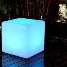 puff iluminado 43- cubo led rgb- luminaria led- puff led rgb