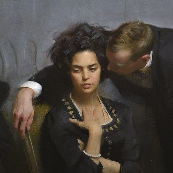 "Publicado por nickalmart: Detalle de ""Tres etapas"". #art #konst #painting #oil #fig ..."