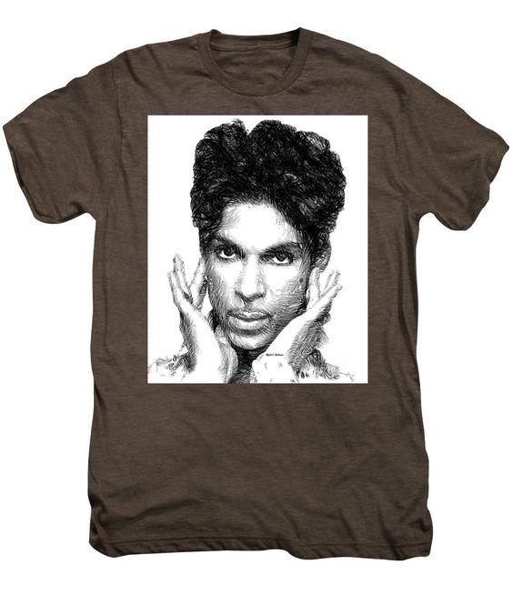 Men's Premium T-Shirt - Prince - Tribute Sketch In Black And White 2