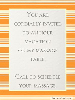 massage quotes and pictures | ... massage is better than taking a vacation. (And then schedule your...815-872-1101: