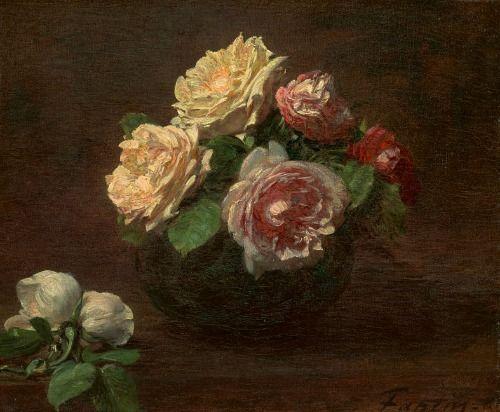 henri fantin latour roses in a bowl 1881 art pinterest posts a bowl and bowls. Black Bedroom Furniture Sets. Home Design Ideas