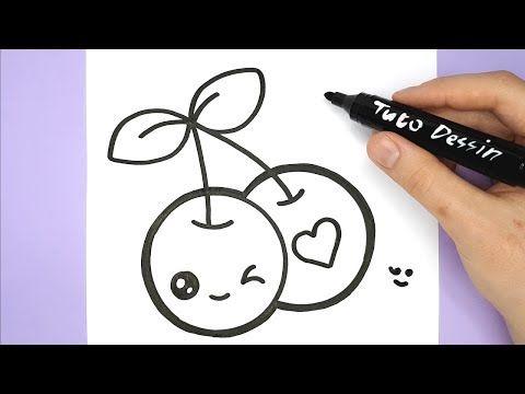 Comment Dessiner Et Colorier Des Cerises Kawaii Youtube Coloriage Kawaii Idees De Dessin Creatif Kawaii